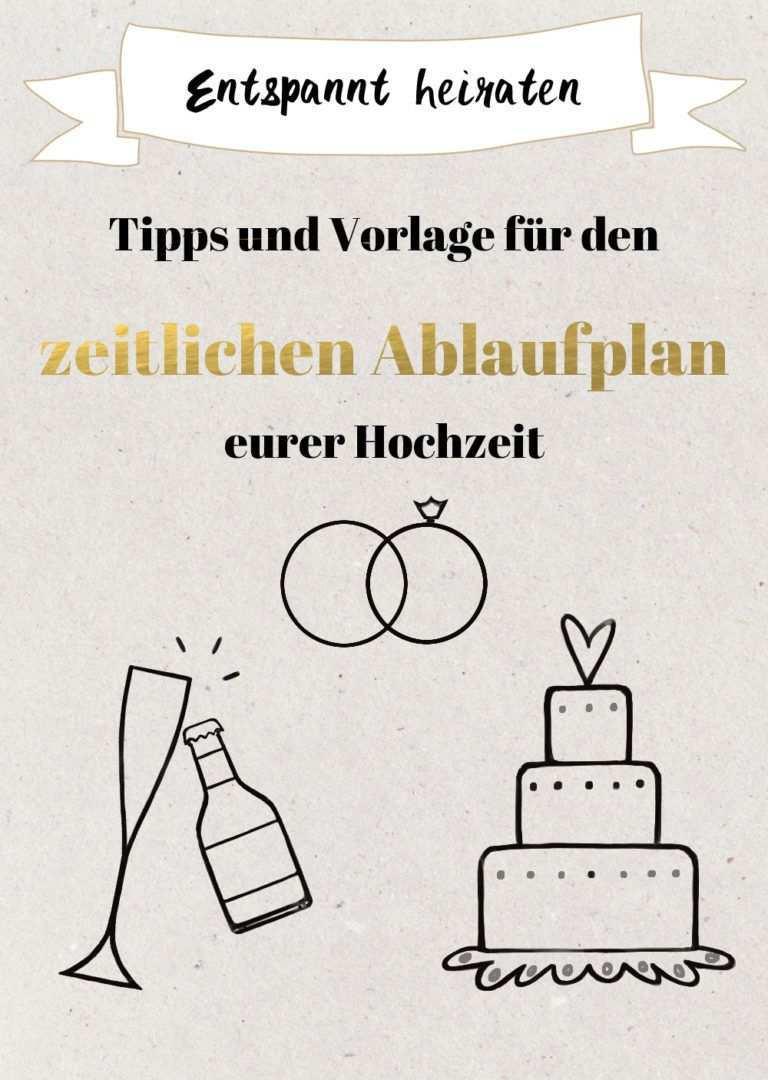Tipps Fur Den Zeitlichen Ablaufplan Fur Die Hochzeit Excel Vorlage Tagesablauf Hochzeit Hochzeit Ablauf Und Checkliste Fur Hochzeit