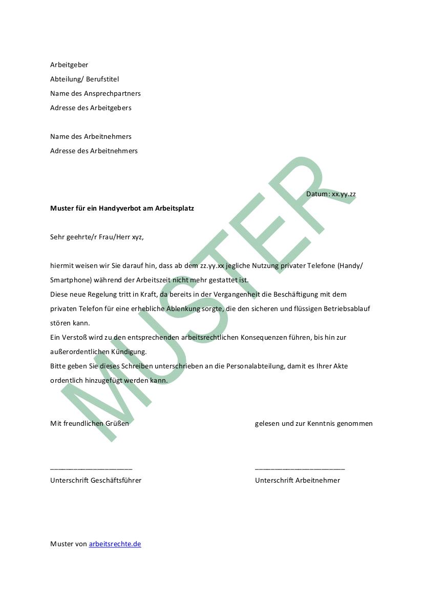 Infos Zum Handyverbot Am Arbeitsplatz Arbeitsrecht 2021