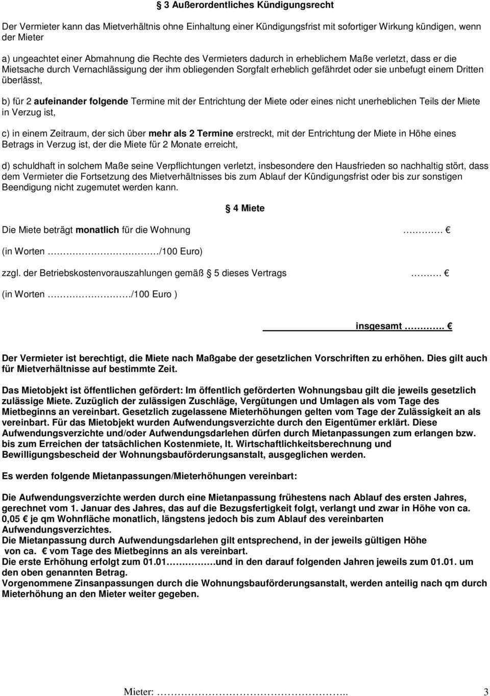 Wohnungsmietvertrag Als Vermieter Als Mieter 1 Mietraume Pdf Kostenfreier Download