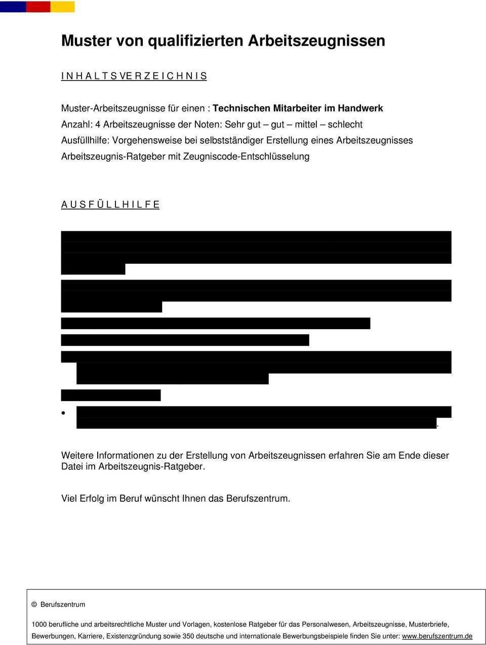 Muster Von Qualifizierten Arbeitszeugnissen Pdf Free Download