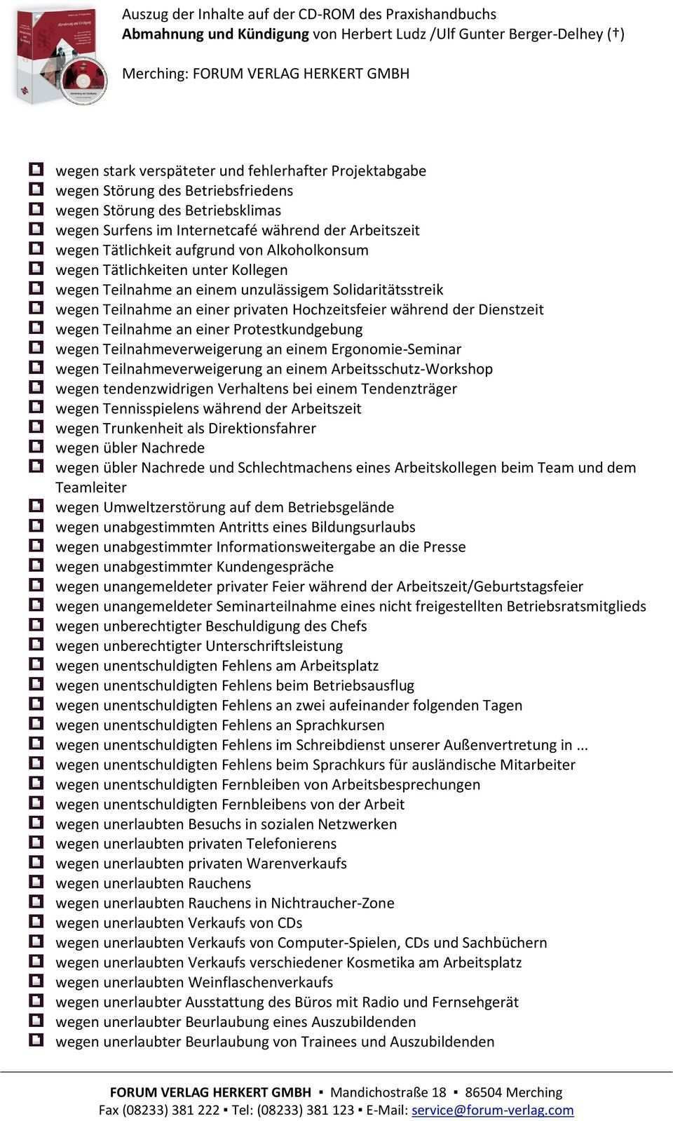 Abmahnung Und Kundigung Pdf Free Download