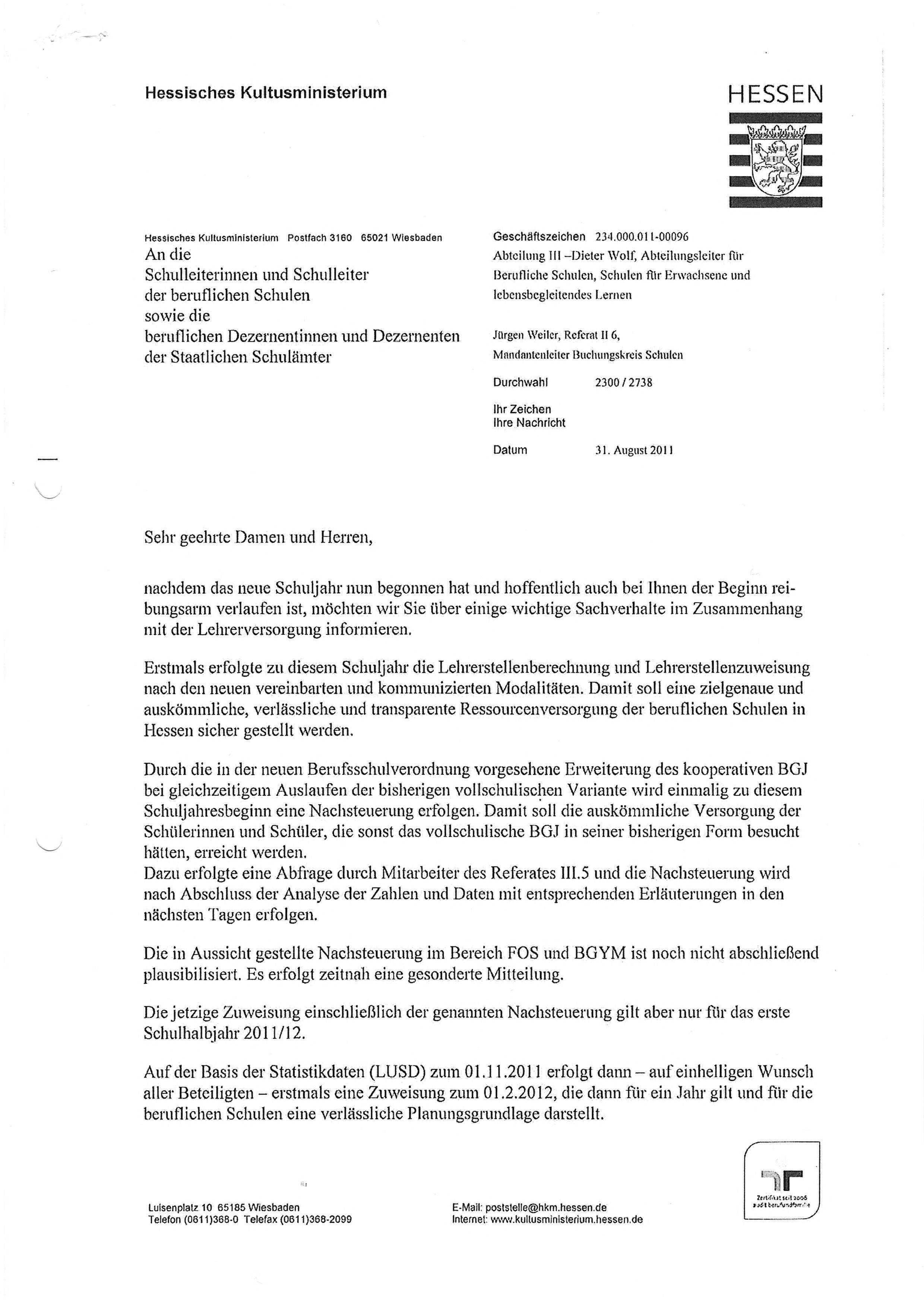 Religionsunterricht Hessen De Sonstige Nachsteuerungserlass