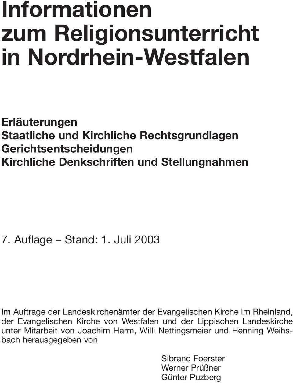 Informationen Zum Religionsunterricht In Nordrhein Westfalen Pdf Kostenfreier Download