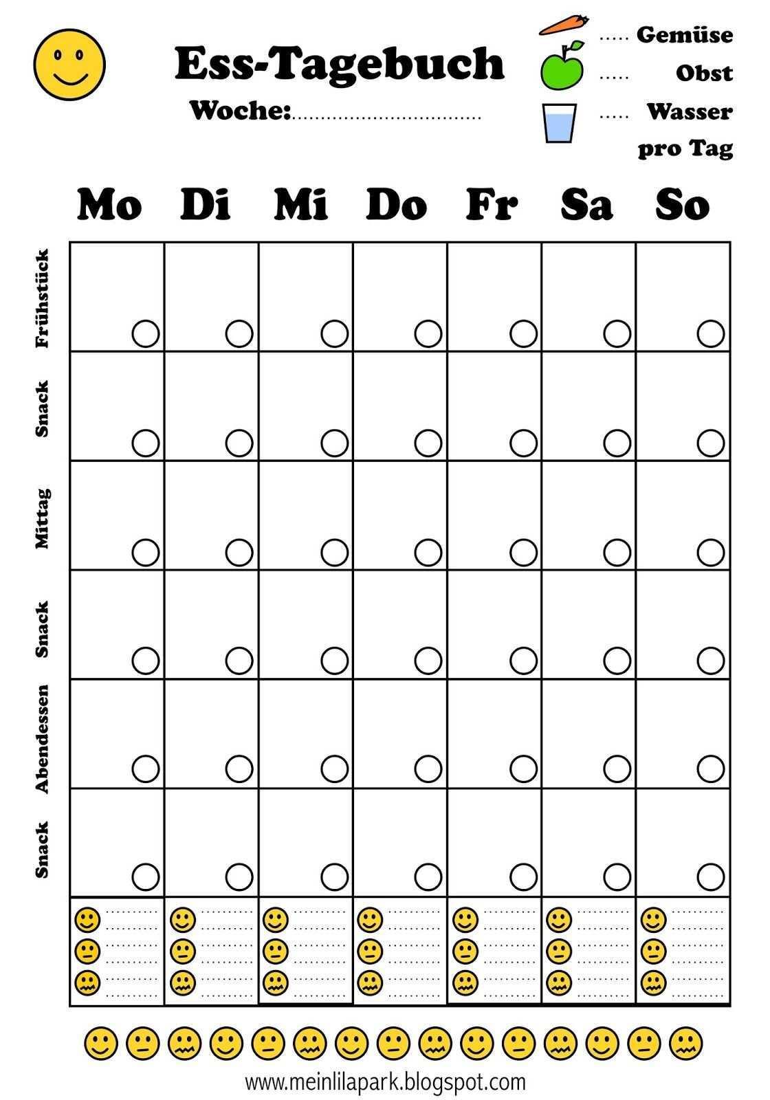 Free Printable Menu Journal Ausdruckbares Diat Tagebuch Freebie Menu Planner Printable Menu Planner Printable Free Free Printable Menu