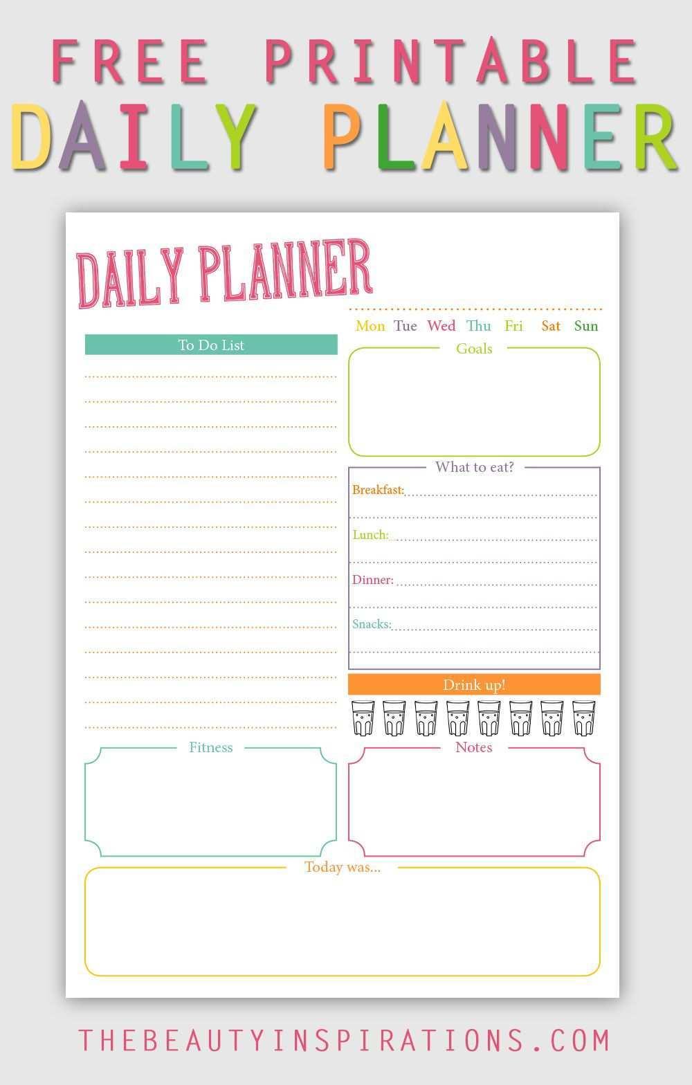 Tagesplaner Zum Kostenlosen Download Fur Alle Filofaxer Paper Girls Und Die Die Einfach Organisierter Leben Wollen Tagesplan Planer Blog