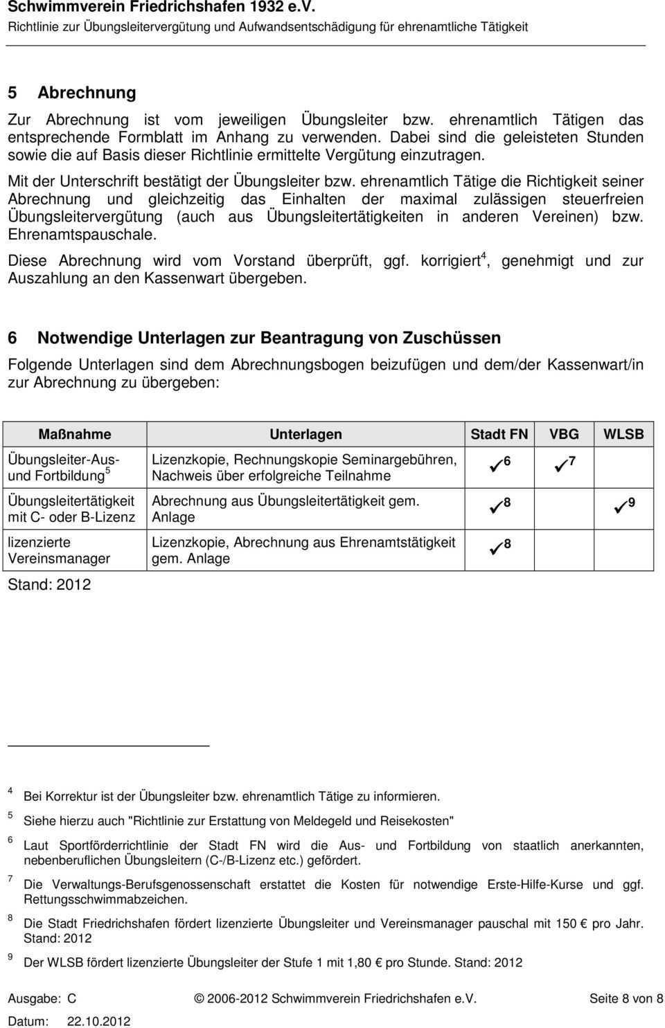Schwimmverein Friedrichshafen 1932 E V Richtlinie Zur Ubungsleitervergutung Und Aufwandsentschadigung Fur Ehrenamtliche Tatigkeit Pdf Kostenfreier Download