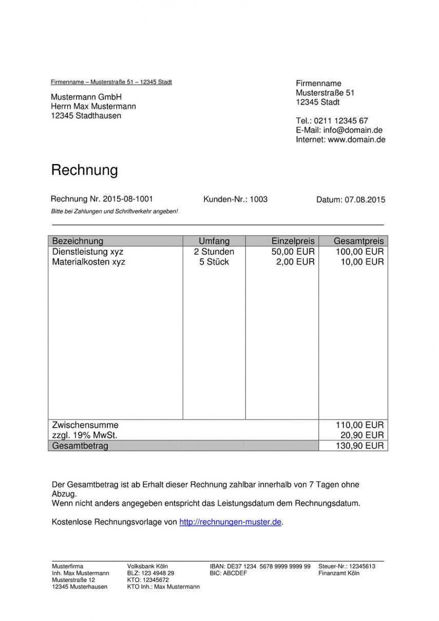 Blattern Unsere Druckbar Von Rechnungsvorlage Stundenabrechnung Rechnung Vorlage Rechnungsvorlage Privatrechnung Vorlage