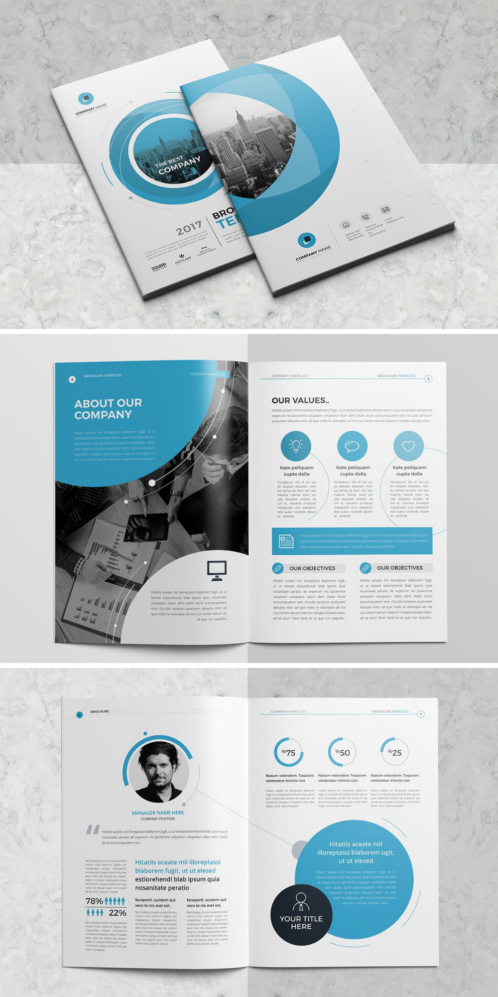 Mockup Vorlage Unternehmensbroschure Business Brochure Design Brochure Design Layout Company Brochure Design