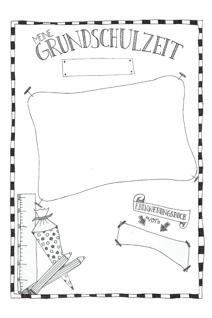 Grundschulzeit Erinnerungsbuch Deckblatt Unterrichtsmaterial Im Fach Fachubergreifendes Grundschule Zeugnis Grundschule Vorschulbuch