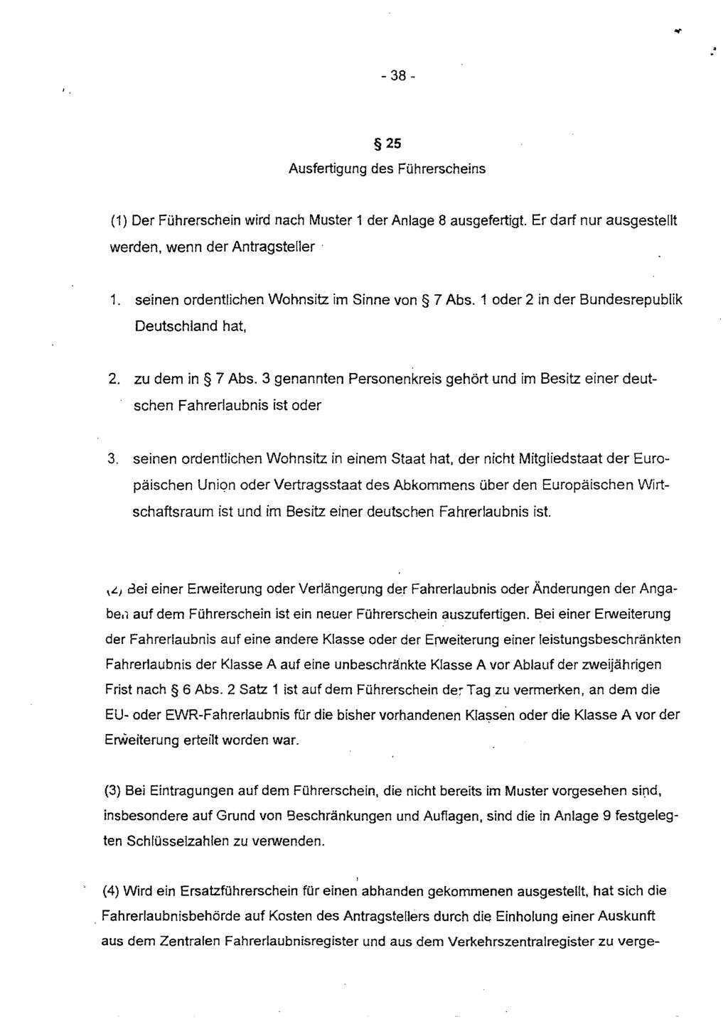 Verordnung Uber Die Zulassung Von Personen Zum Strassenverkehr Und Zur Anderung Strassenverkehrsrechtlicher Vorschriften Pdf Kostenfreier Download