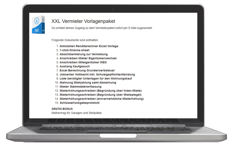 Xxl Vermieter Vorlagenpaket Download Fur Immobilien Investoren
