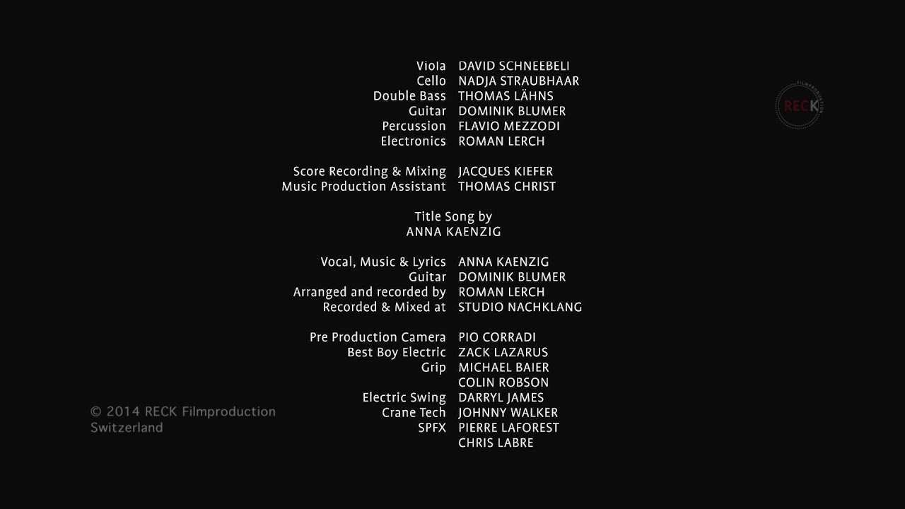Der Filmabspann Zembi Filmbildung