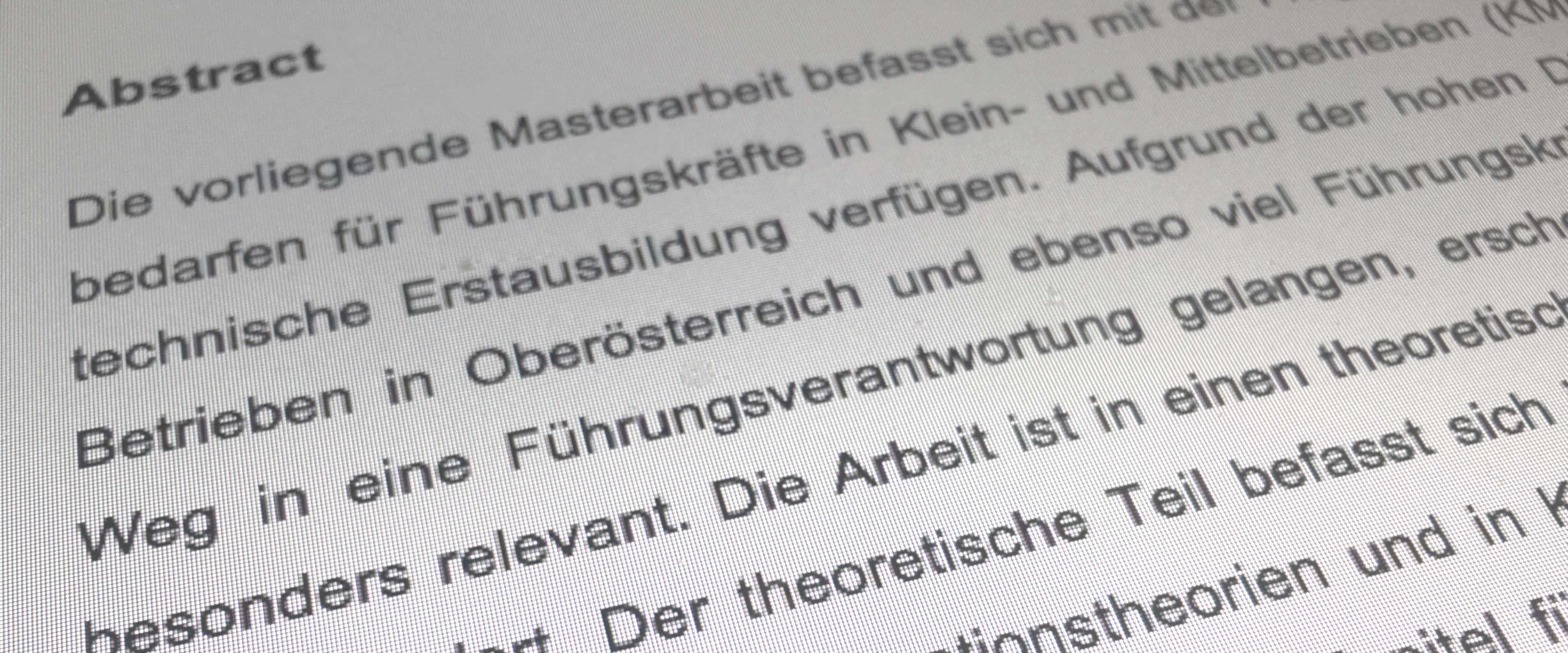 Abstract Schreiben Anleitung Tipps Und Muster