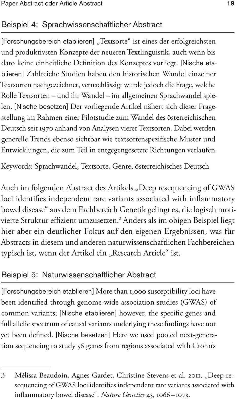 Beispiel 4 Sprachwissenschaftlicher Abstract Beispiel 5 Naturwissenschaftlicher Abstract Pdf Kostenfreier Download