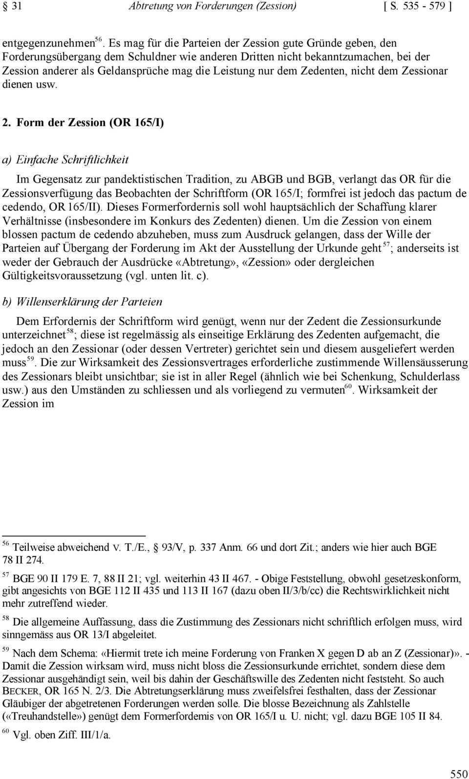 31 Abtretung Von Forderungen Zession 535 I Allgemeines Begriff Komparatistische Hinweise Praktische Bedeutung 538 Ii Pdf Kostenfreier Download