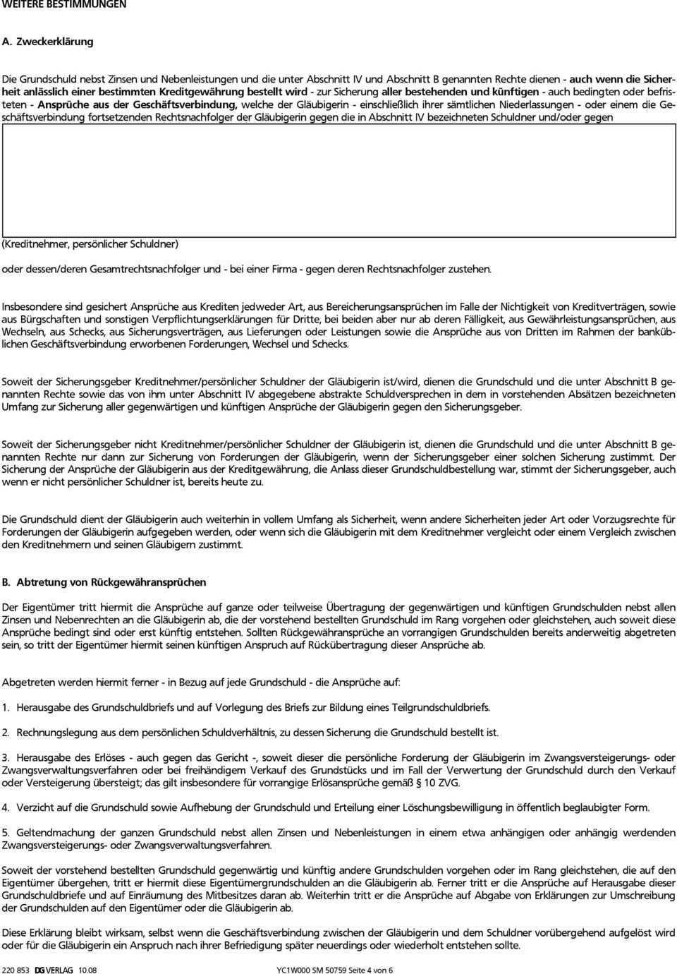 Grundschuldbestellung Mit Ubernahme Der Personlichen Haftung Und Zwangsvollstreckungsunterwerfung Pdf Free Download