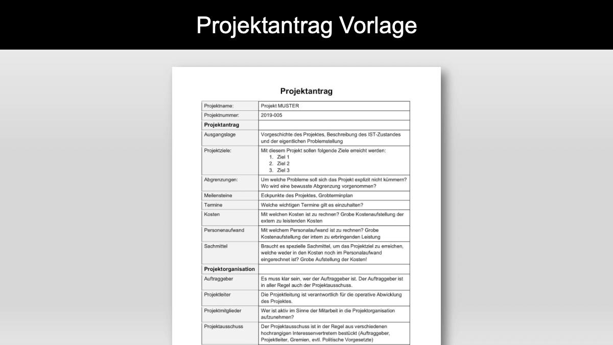Projektantrag Vorlage Word Format Kostenlos Downloaden