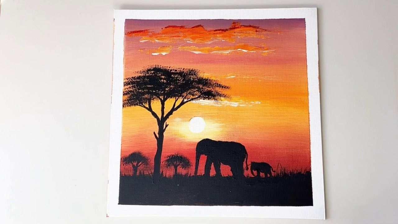 Malen Mit Acrylfarben Malen Sonnenuntergang Africa Ganz Einfach Malen Lernen 2 Ari Art 1 Youtube In 2020 Sonnenuntergang Malen Idee Farbe Malen Lernen
