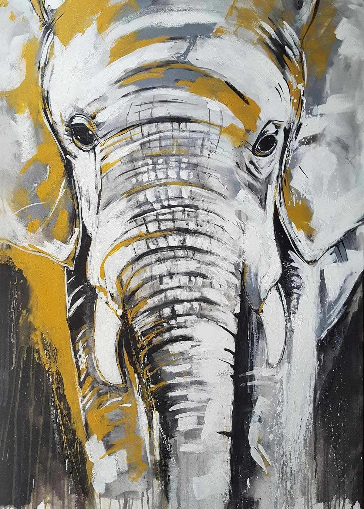 Kunstdruck Elefant Exklusive Wandbilder Afrika Kunst Aus Dem Atelier Von Stefanie Rogge En 2020 Pintura De Elefante Elefantes Pintados Pinturas De Elefantes