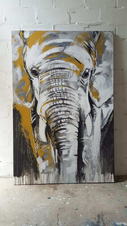 Kunstdruck Elefant Exklusive Wandbilder Afrika Kunst Aus Dem Atelier Von Stefanie Rogge Afrikanische Gemalde Elefant Gemalde Abstrakte Malerei