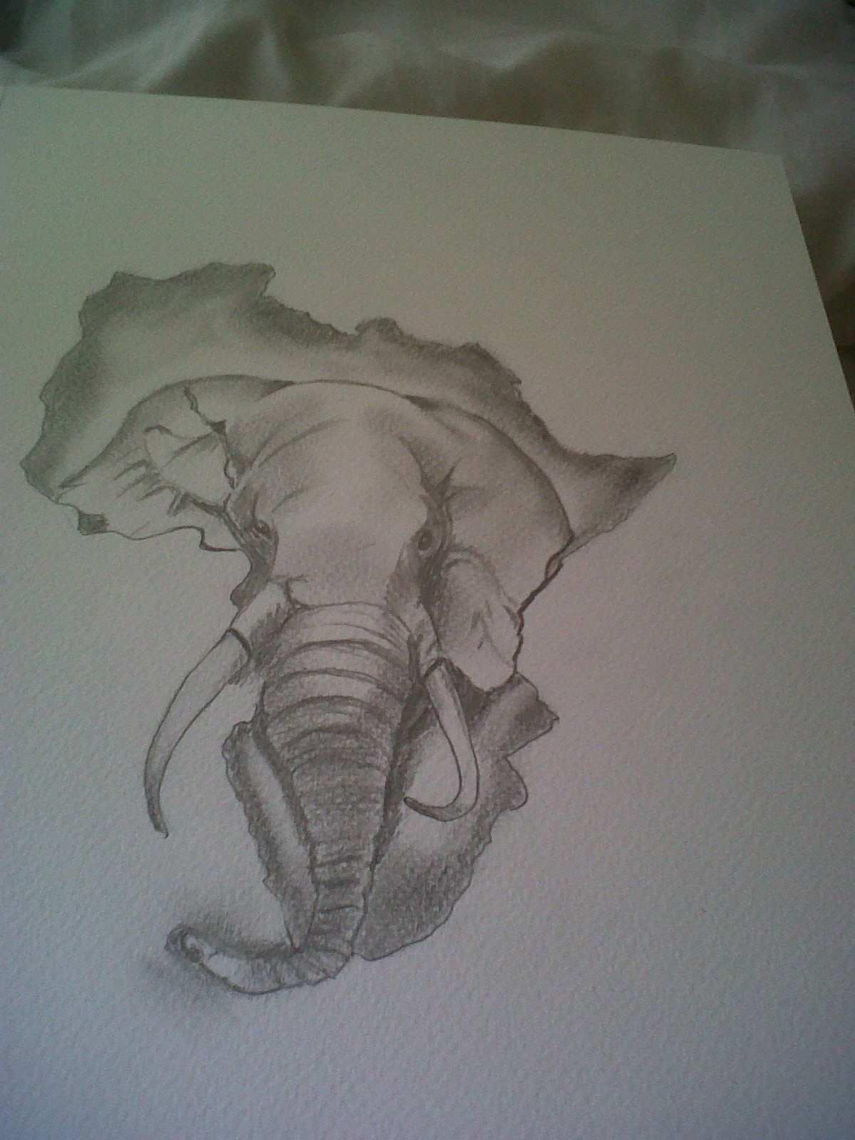 Pin Von Richard Telp Auf Tattoo Tattoo Elefanten Afrika Karte Tattoo Vorlagen