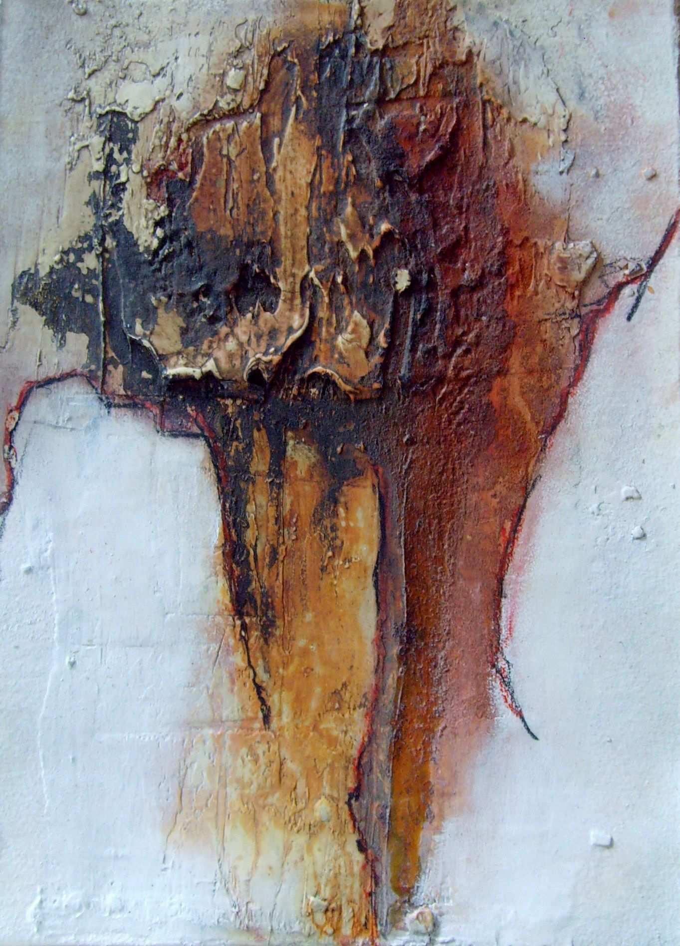 Geschenk Doppelkarte 25cm X 18cm Materialmix Abstrakt Acrylmalerei Abstrakt Abstrakte Malerei