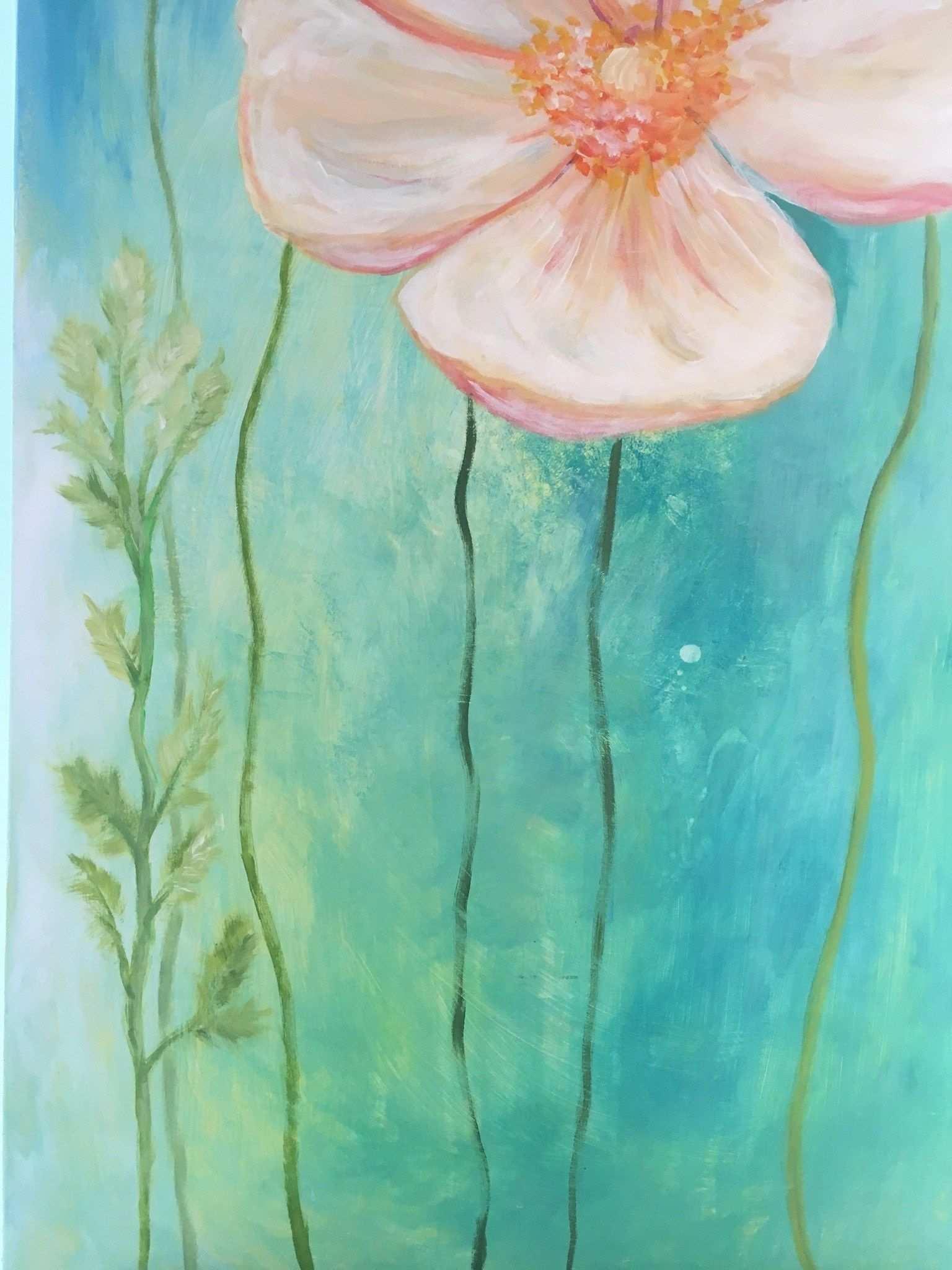 Blumen Malen Mit Acrylfarben In 8 Einfachen Schritten Creative Club Blumen Malen Malen Mit Acrylfarben Acryl Malen