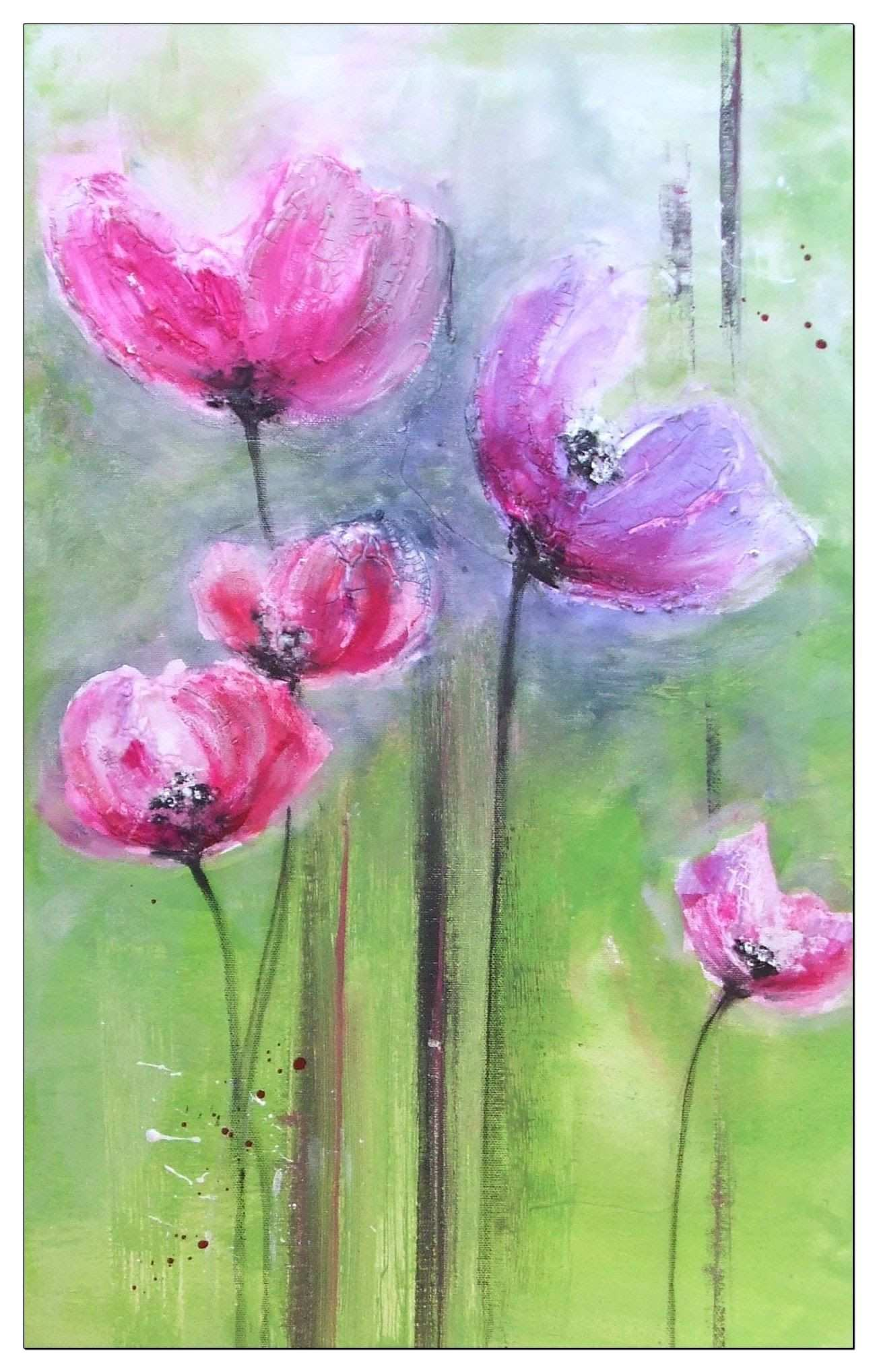 Painting Flowers Tutorial Blumen Malen Struktur Mit Facettenlack Blumen Malen Acrylbilder Blumen Blumen Malen Acryl