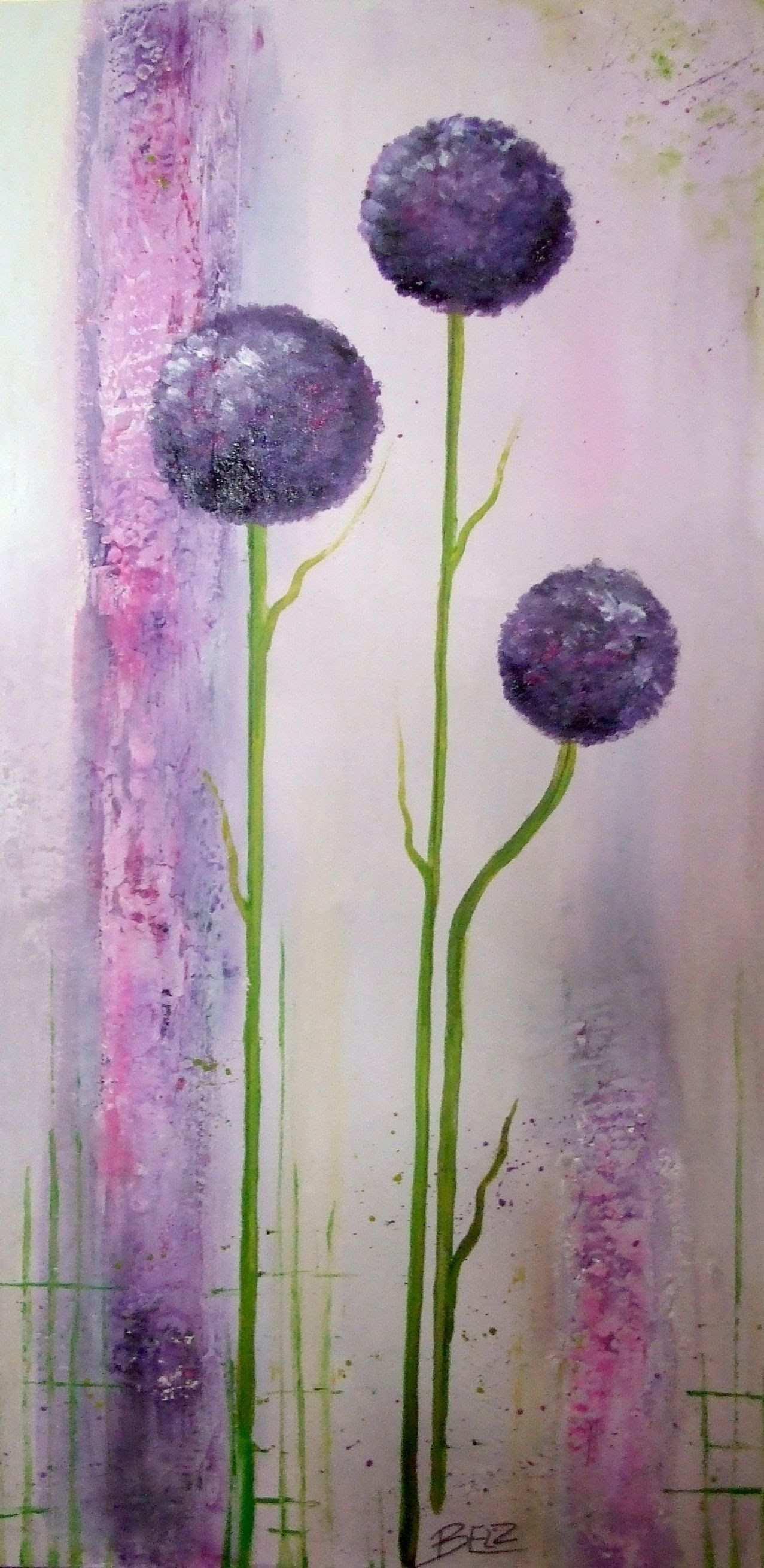 Painting Demo Ornamental Onion Acrylmalerei Lange Version Blumen Malen Acryl Acrylbilder Blumen Acrylmalerei