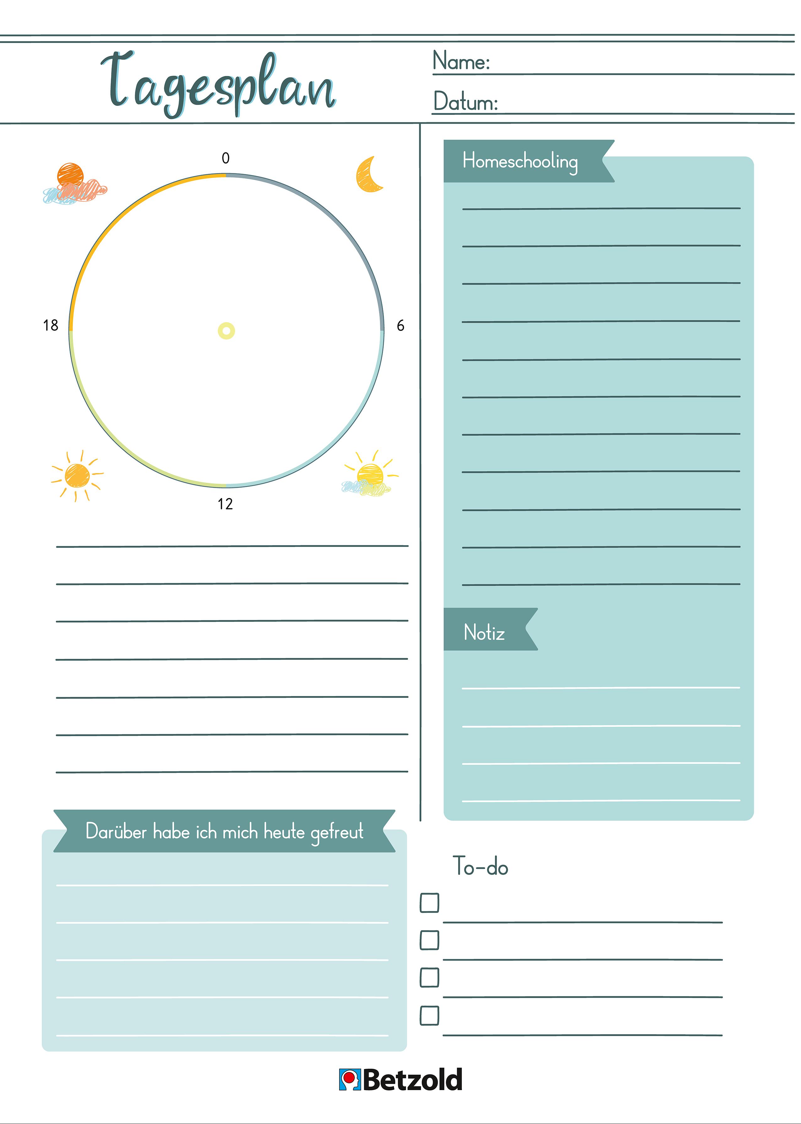 Homeschooling Tipps Fur Eltern Unterrichtsthemen Tagesplan Vorlagen Tagesplan