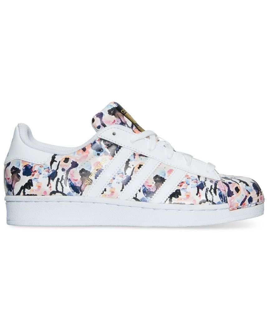 Adidas Floral Superstar Sneakers Floral Adidas Shoes Adidas Outfit Shoes Adidas Shoes Superstar