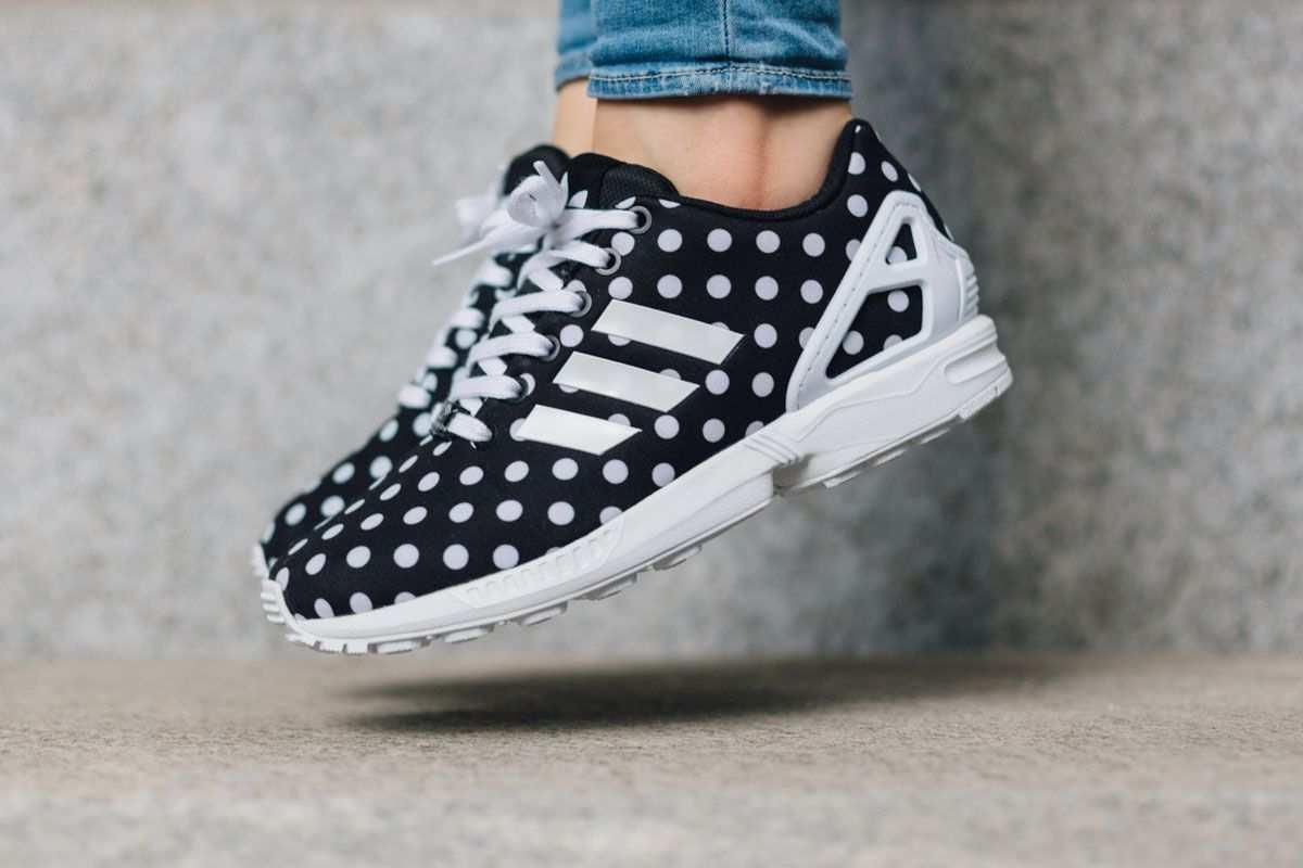 Wmns Adidas Zx Flux Polka Dots Black White Eu Kicks Sneaker Magazine Schuhe