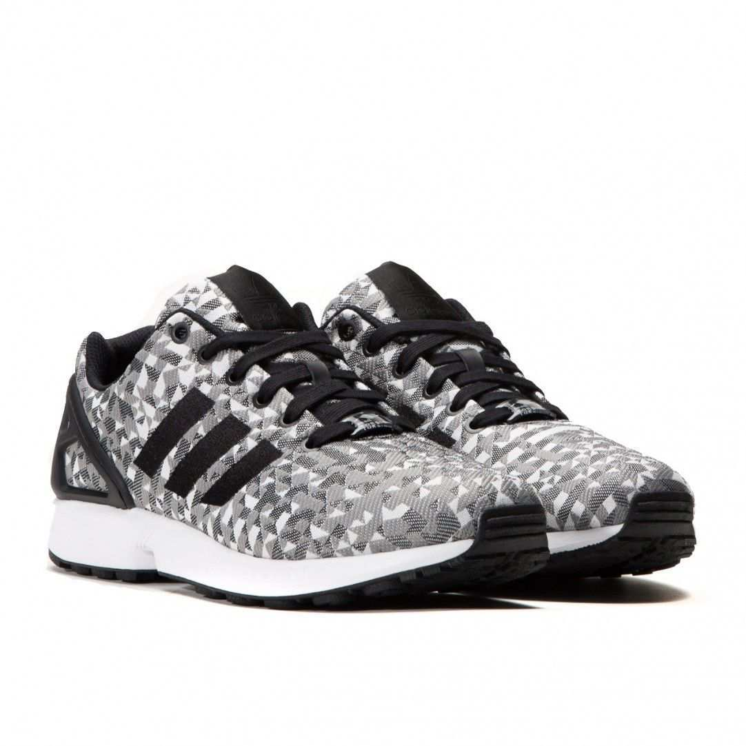 Adidas Zx Flux Weave Grey Prism Running White Black Grey B34472 Sneakers Stylish Sneakers Adidas Zx Flux