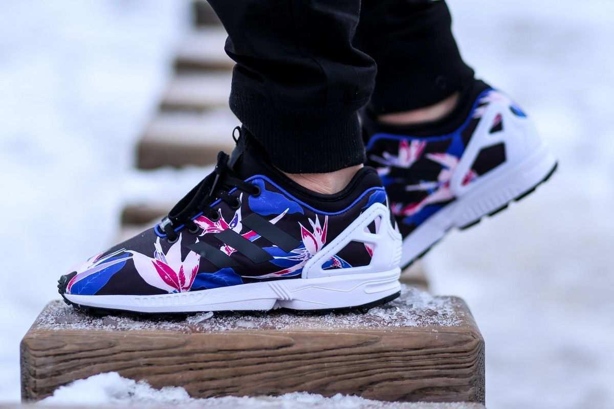 Adidas Zx Flux Nps Hawaiian Floral Pack Bold Blue Eu Kicks Sneaker Magazine