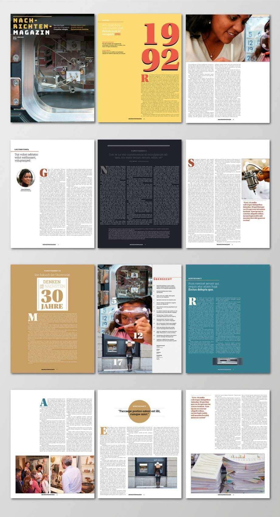 Bescheidener Adobe Indesign Vorlagen Editorial Design Layouts Indesign Vorlagen Editorial Design