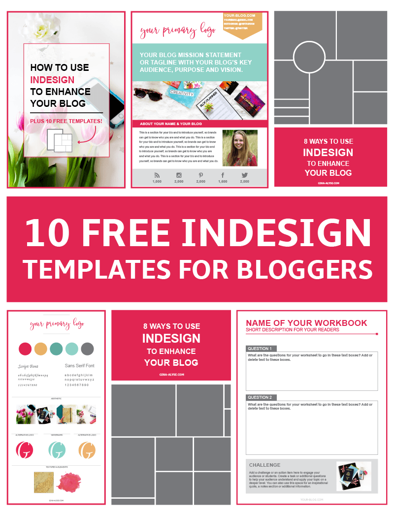 10 Free Indesign Templates For Bloggers For Content Upgrades Indesign Templates Indesign Tutorials Indesign