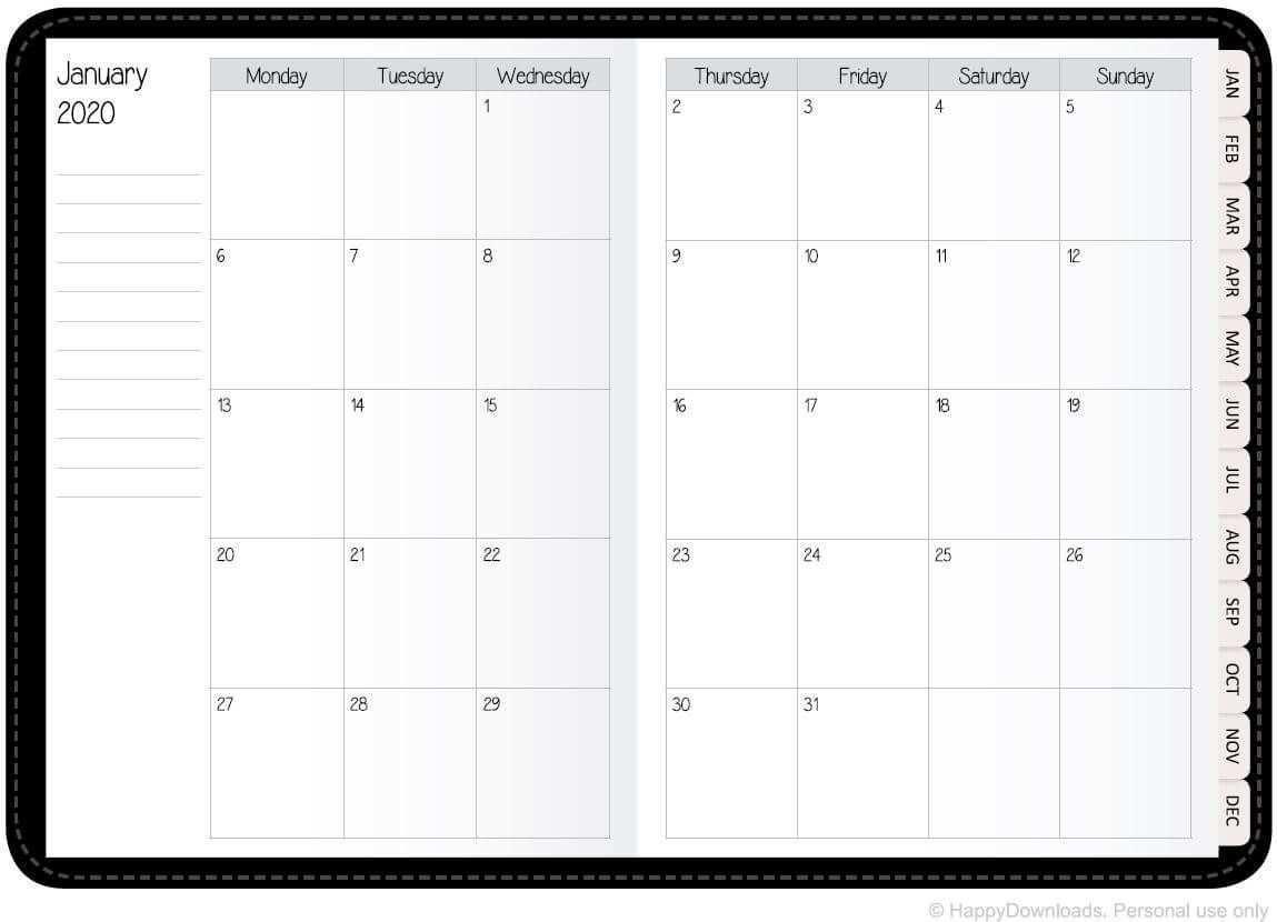 Free Digital Planner For 2020 2021 Happydownloads Free Weekly Planner Templates Monthly Planner Template Digital Planner