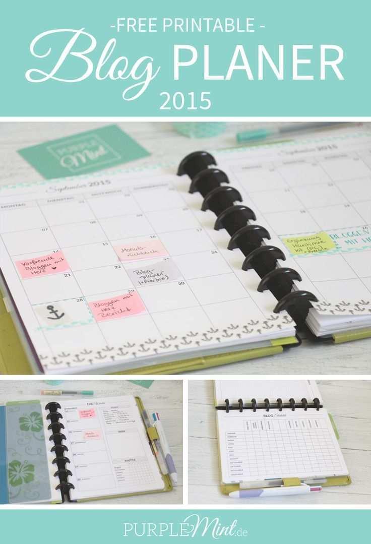 Organisiert Mein Blogplaner Mit Freebie Purplemint Terminplaner Diy Buch Selber Binden Filofax A5 Vorlagen