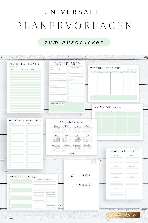 Planer Vorlagen Zum Ausdrucken Deutsch Undatiert Pdf Download 2020 2021 Swomolemo Printables Planer Vorlagen Planer Kalender Vorlagen