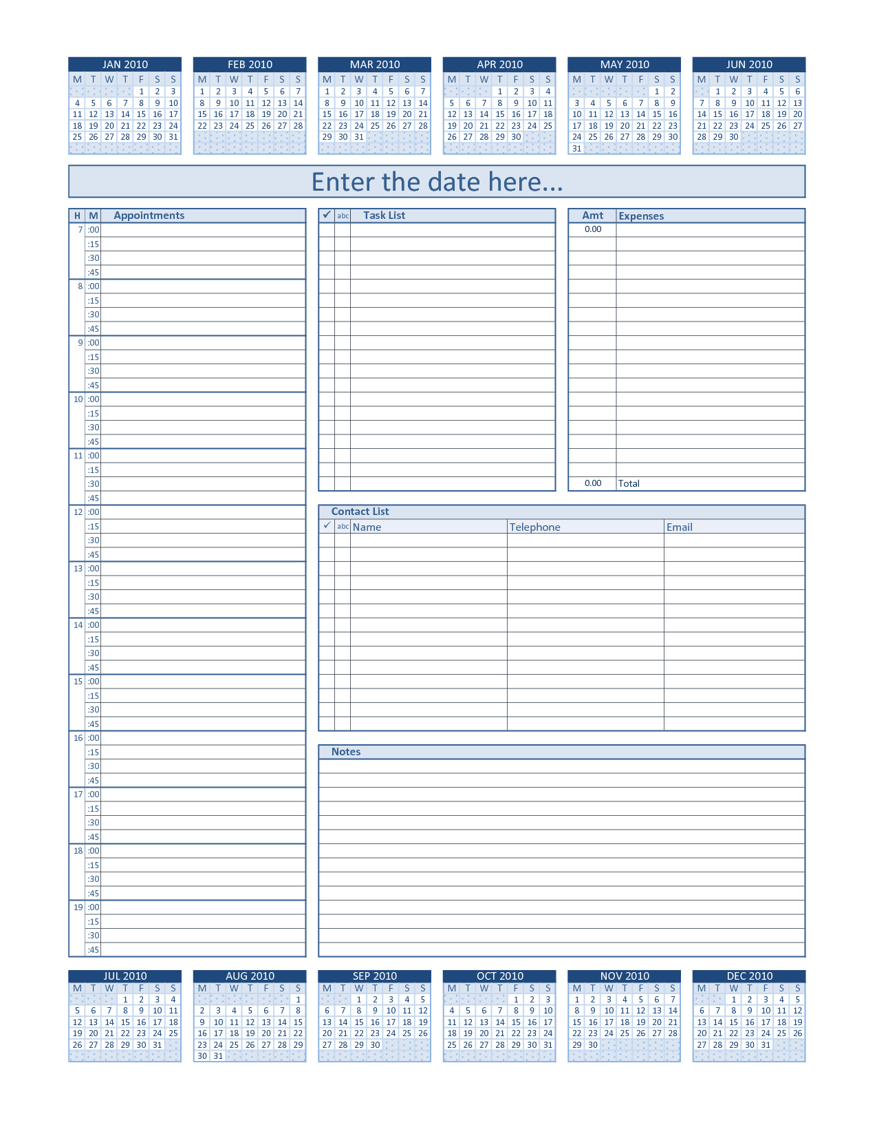 Find And Share Free Documents Daily Planner Template Weekly Planner Template Daily Planner Printable