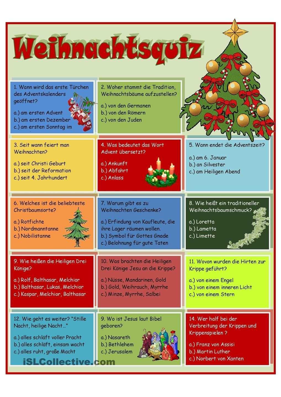 Weihnachtsquiz Adventkalender Weihnachtsfeier Spiele Weihnachten Ratsel