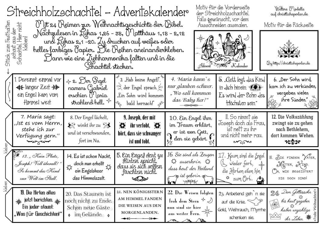 Streichholzschachtel Adventskalender Adventkalender Adventskalender Advent