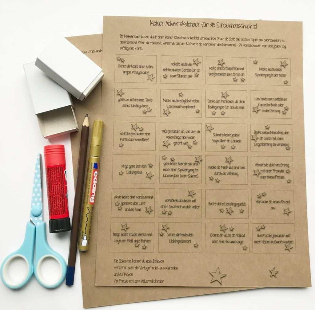 Material Adventskalender In Streichholzschachtel Adventkalender Adventskalender Vorlagen Streichholzschachteln