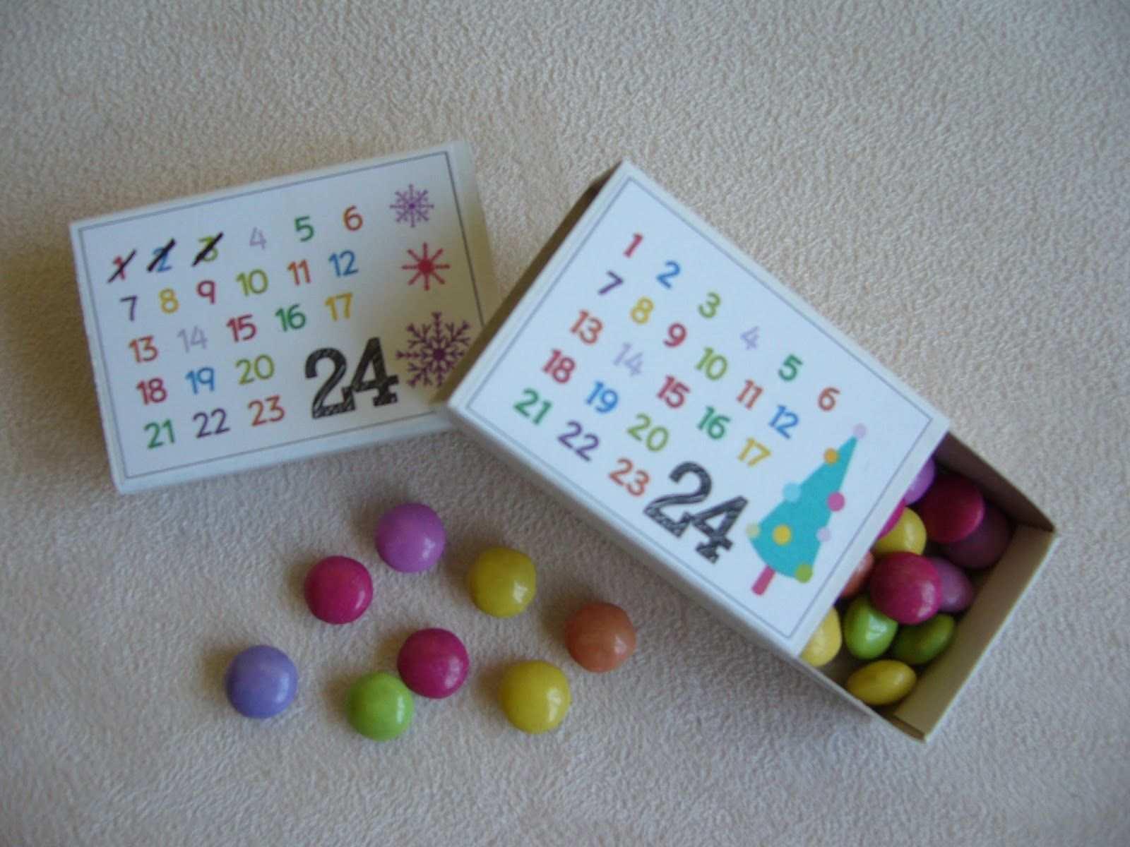 Adventskalenderidee Basteln Weihnachten Adventkalender Geschenke