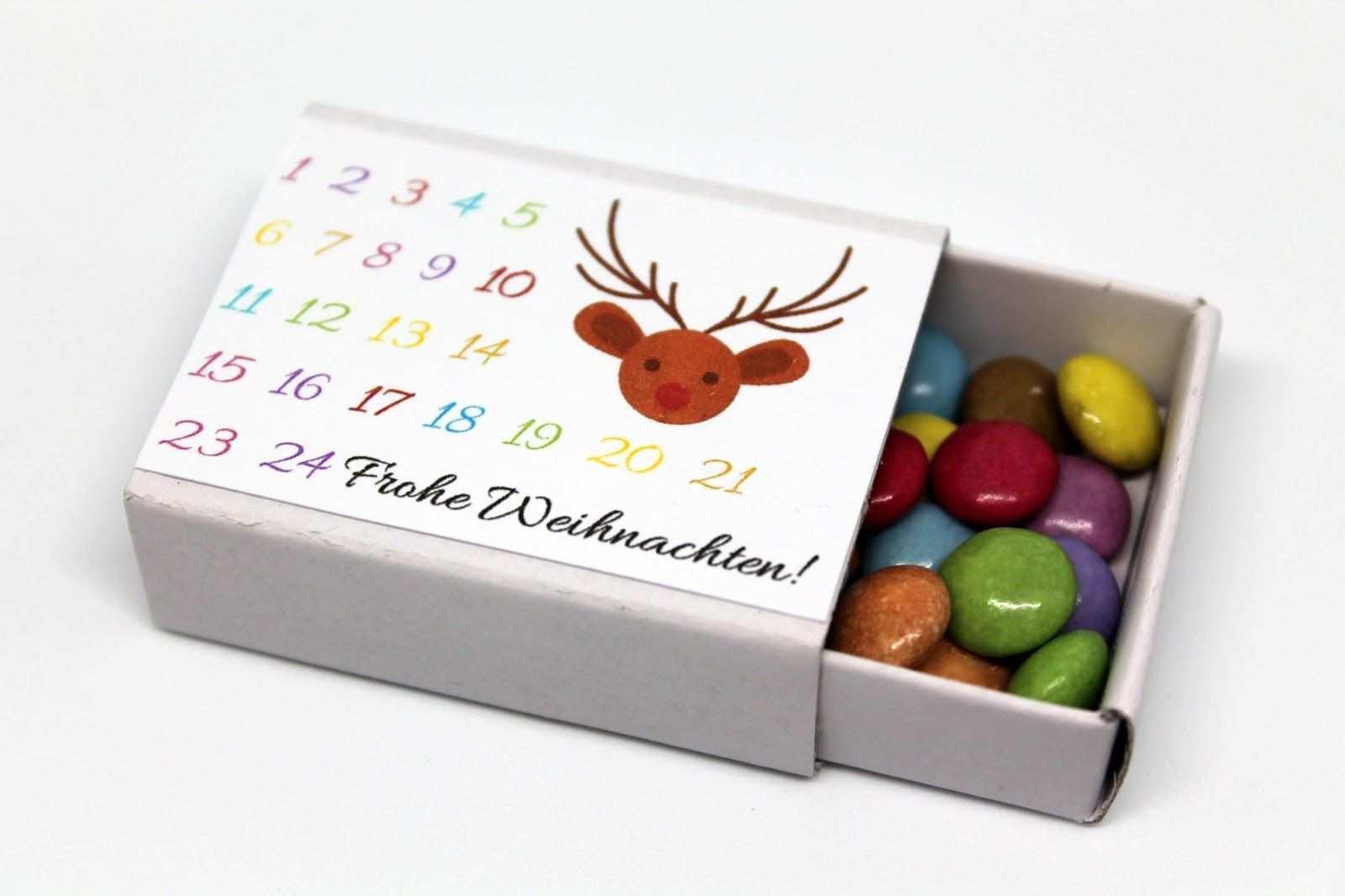 Diy Adventskiste Adventskalender In Einer Kiste Selber Machen Diycarinchen Diy Blog Streichholzschachteln Geschenke Im Glas Basteln Adventkalender