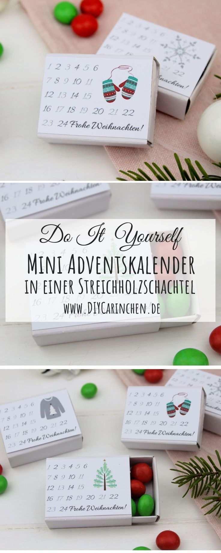 Diy Adventskalender In Einer Streichholzschachtel Einfach Und Schnell Adventkalender Mini Adventskalender Streichholzschachteln