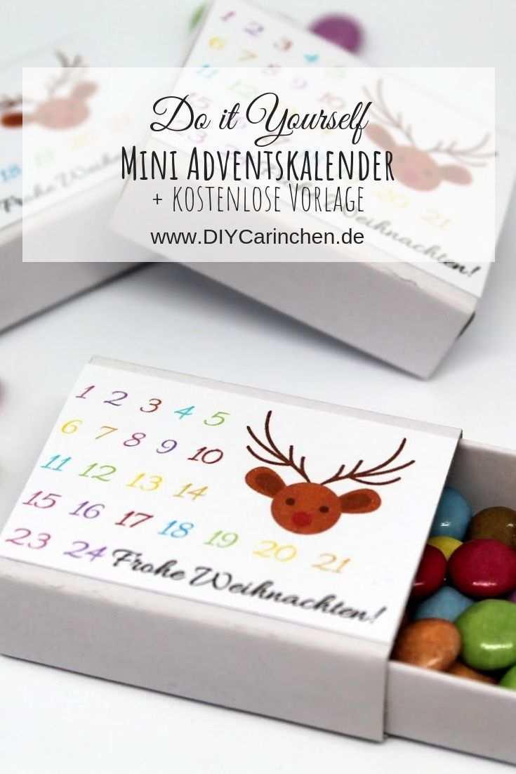 Diy Adventskalender In Einer Streichholzschachtel Selber Machen Vorlage Navidad