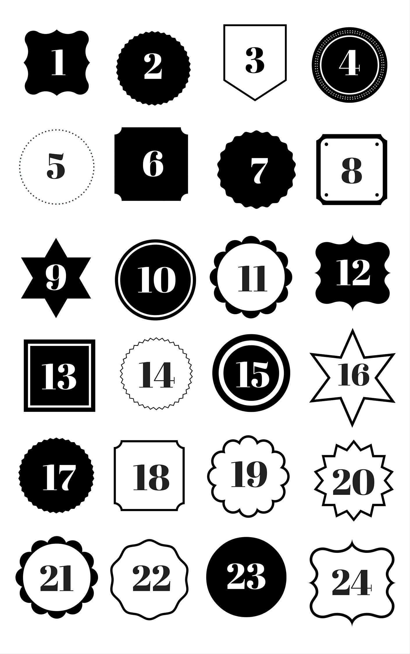 Adventskalender Zahlen Zum Ausdrucken Dee S Kuche Adventskalender Zahlen Zum Ausdrucken Adventkalender Adventskalender Zahlen