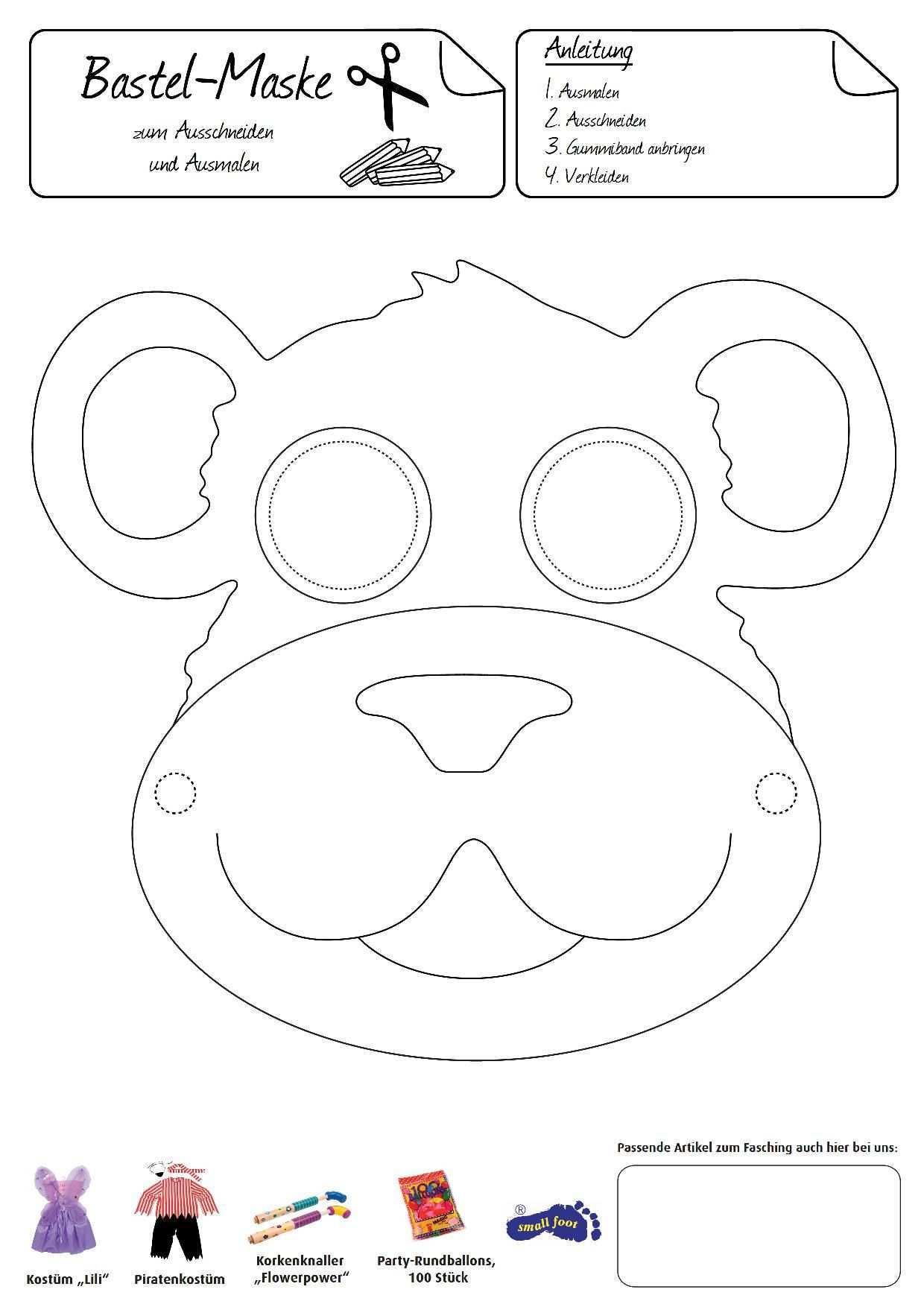 Einmal Sich Selbst Zum Affen Machen Mit Dieser Witziger Affenmaske Ist Spass Garantiert Affe Basteln Masken Kinder Tiermasken Basteln