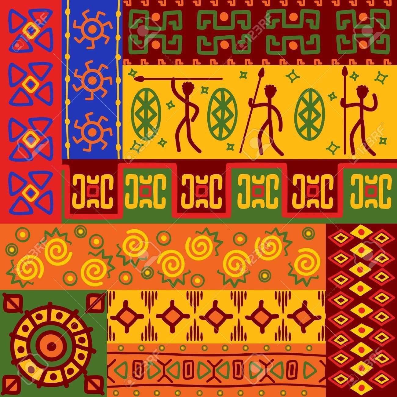 Zusammenfassung Afrikanischen Ethnischen Muster Und Ornamente Fur Design Ethnische Muster Musterkunst Afrikanische Muster